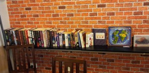 Books at the cafe
