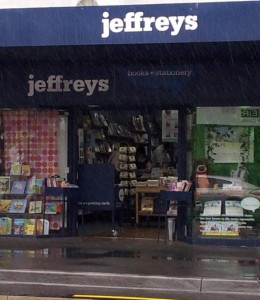Jeffrey's Bookshop in Malvern Road, Malvern. I'd forgotten they were there and didn't have time to pop in to see what their specialty is...another time.