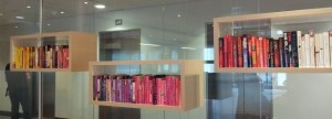 Look what greeted me when I got to Random House's offices! A lovely array of books all colour coded.