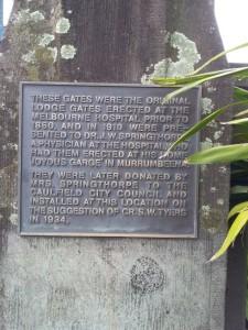 Gate plaque