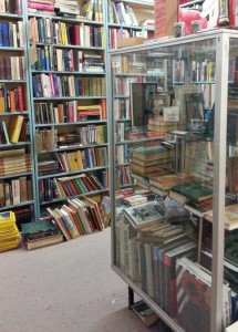 One of the areas of books in the Chapel Street Bazaar