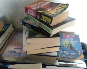 These were at the hotel we stayed at in Petra, Jordan. I didn't read them all as I was just too tired.