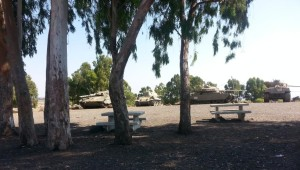 Tanks on the Golan Heights