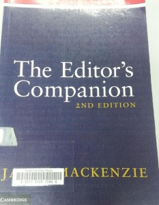 The Editor's Companion